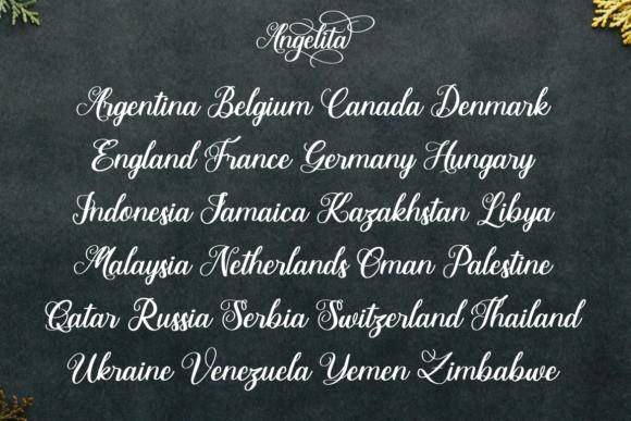 Angelita calligraphy