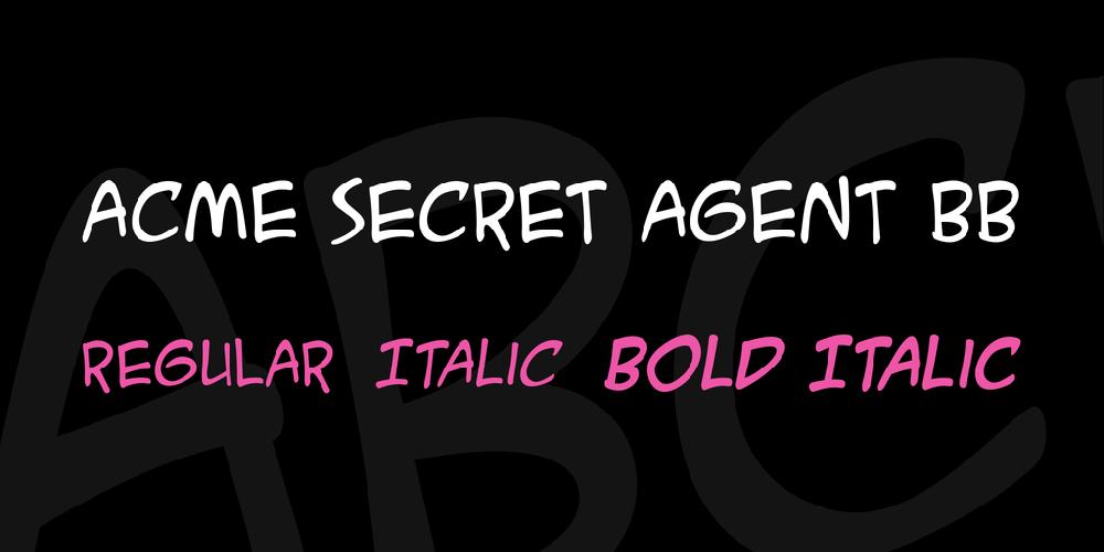 ACME Secret Agent BB