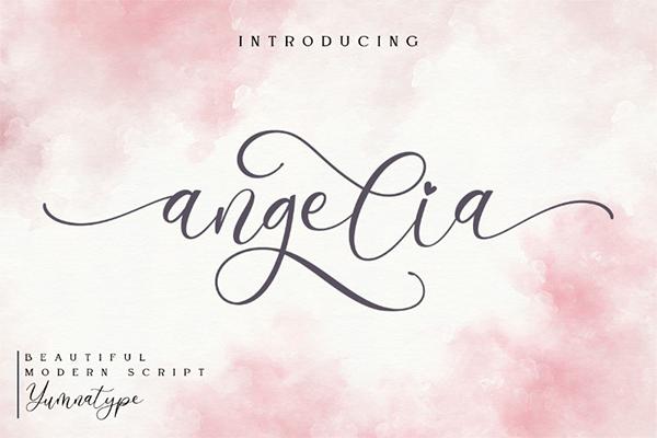Angelia calligraphy