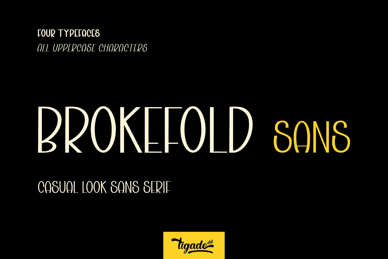 Brokefold Sans