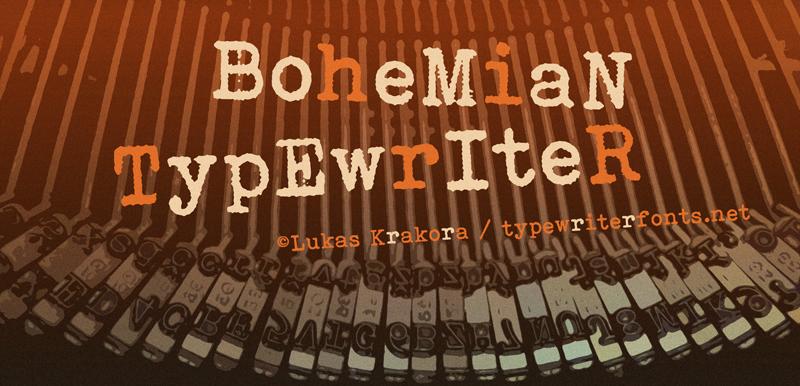 Bohemian typewriter