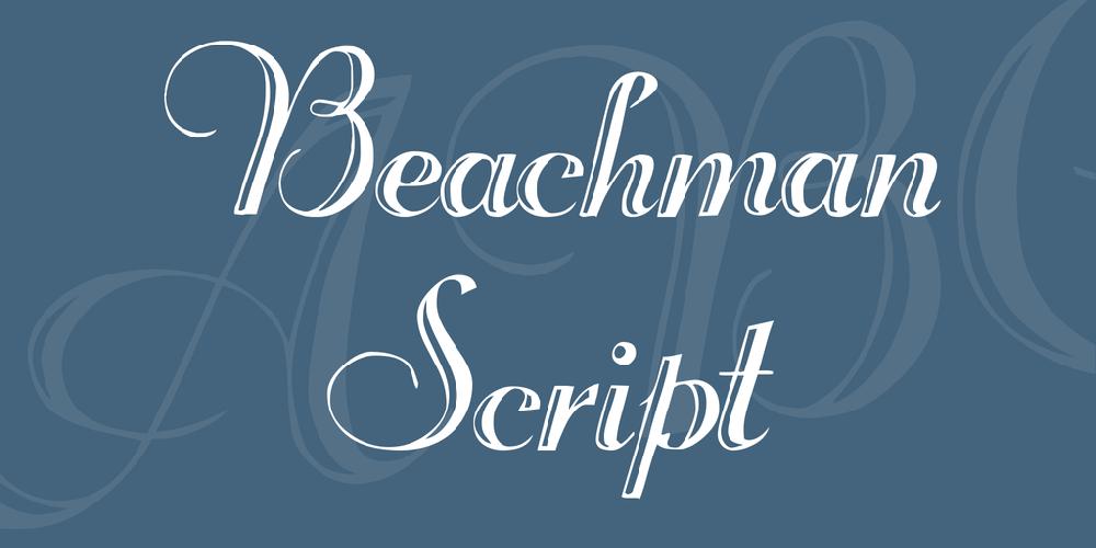 Beachman Script