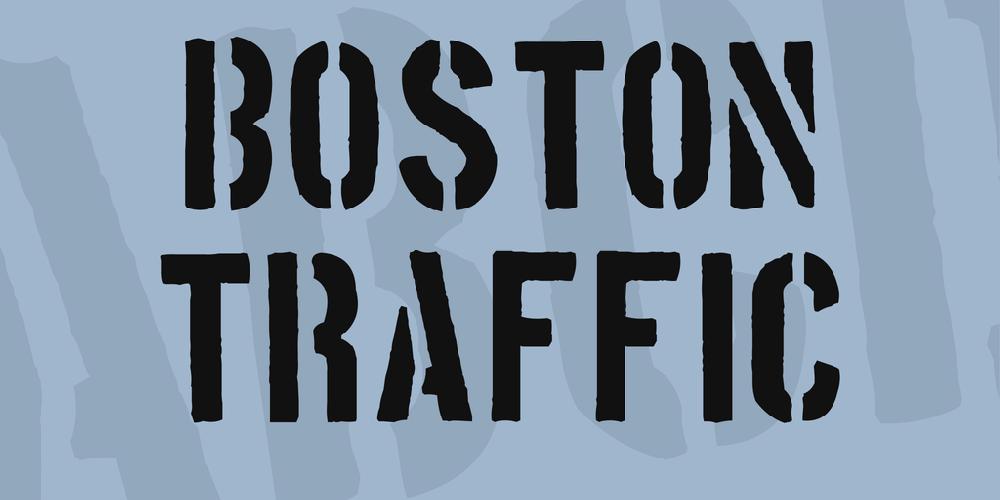 Download Boston Traffic font | fontsme com