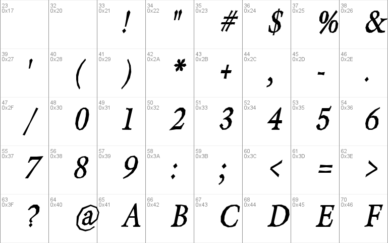 Berylium-Bold Font