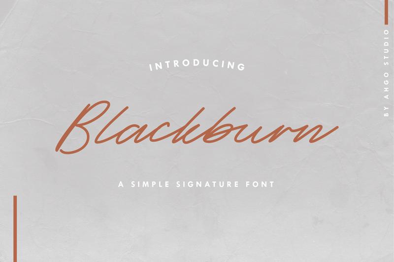 Blackburn italic