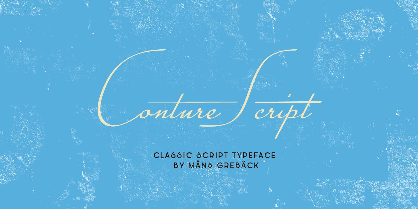 Conture Script PERSONAL USE