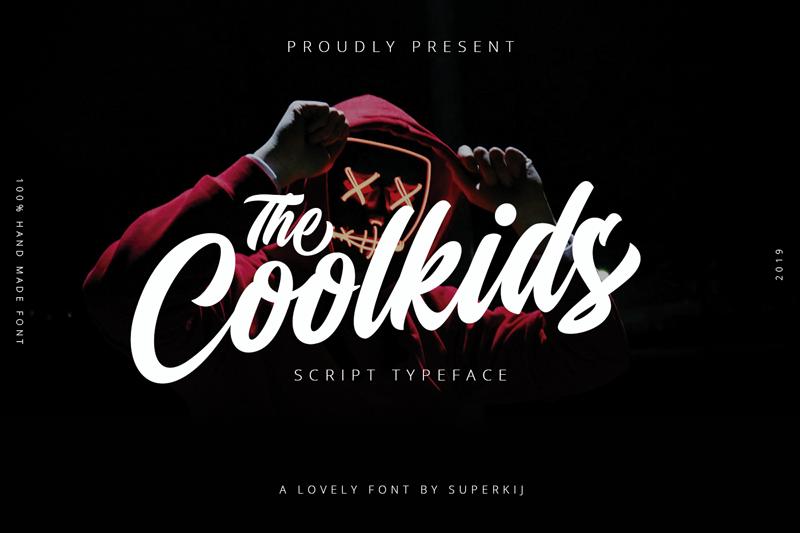 Coolkids - Script Typeface brush
