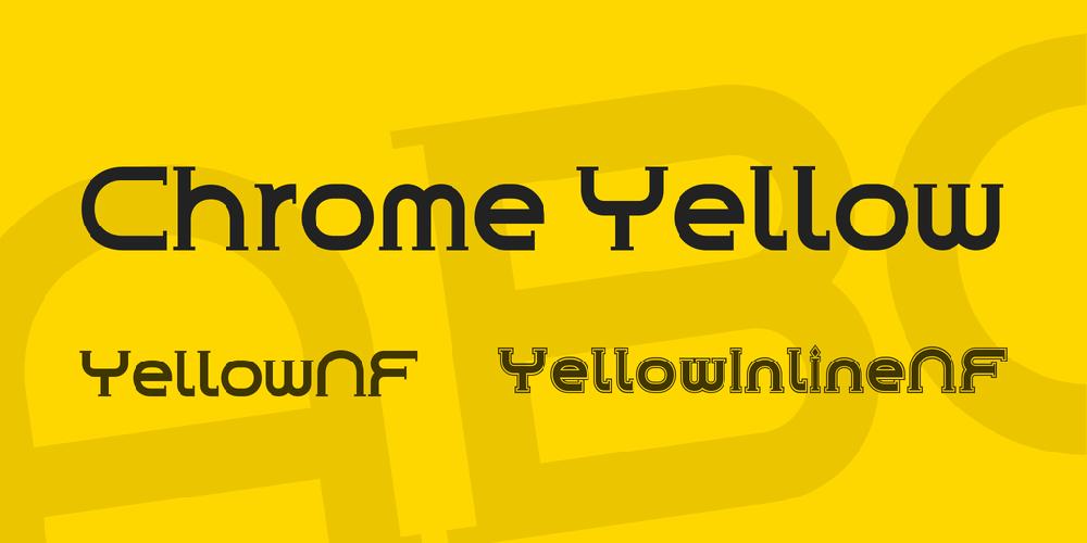 Download Chrome Yellow font | fontsme com