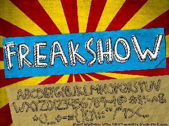 Download 13 Freak Fonts
