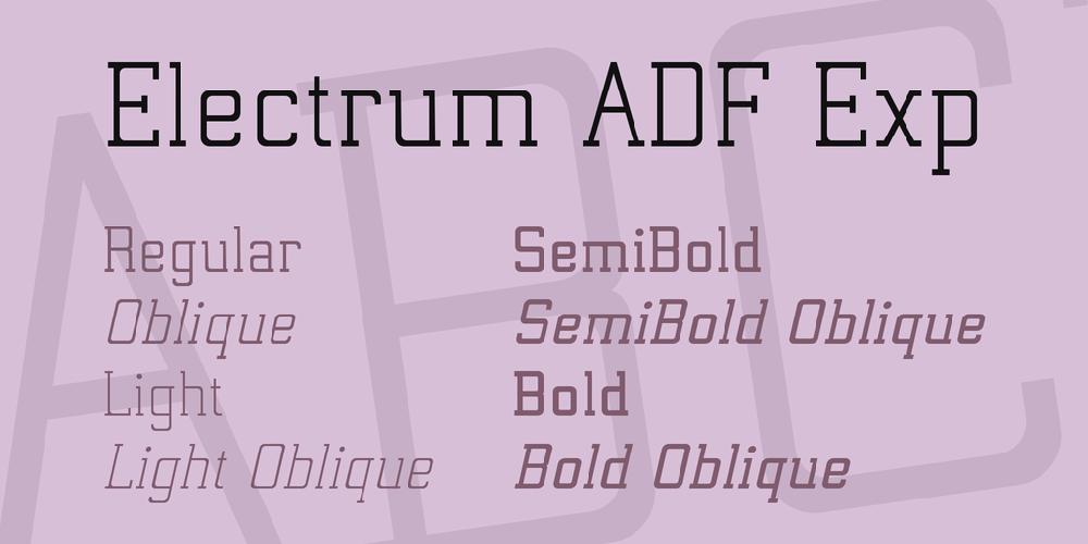 Electrum ADF Exp