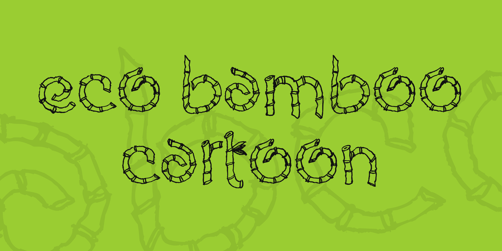Eco Bamboo Cartoon