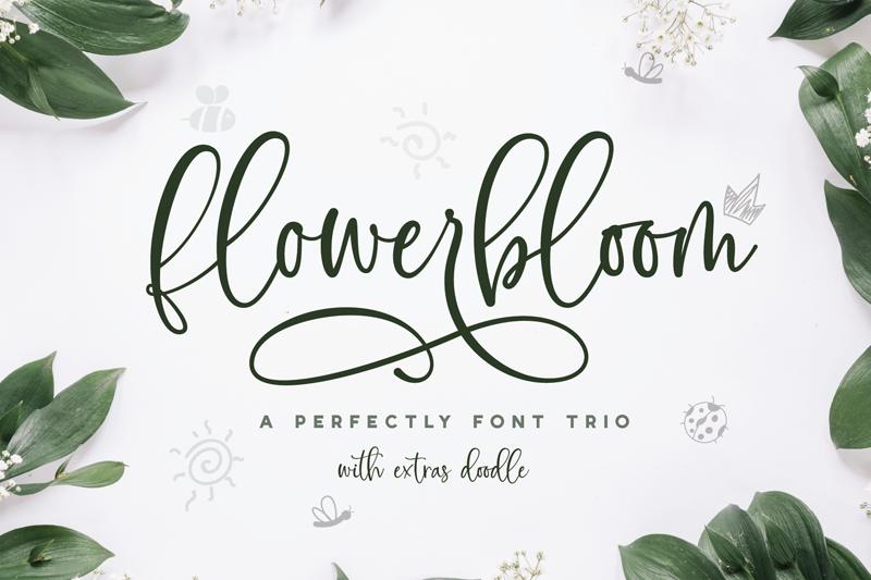 Flowerbloom calligraphy
