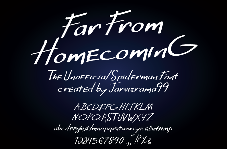 Download Far From Homecoming font   fontsme com