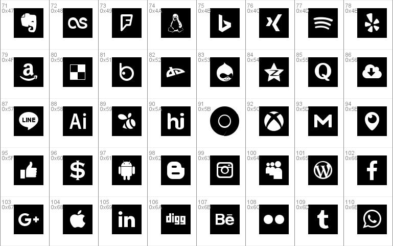 Font Social Colors