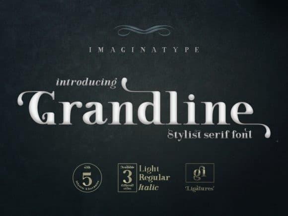 Grandline Italic free for perso