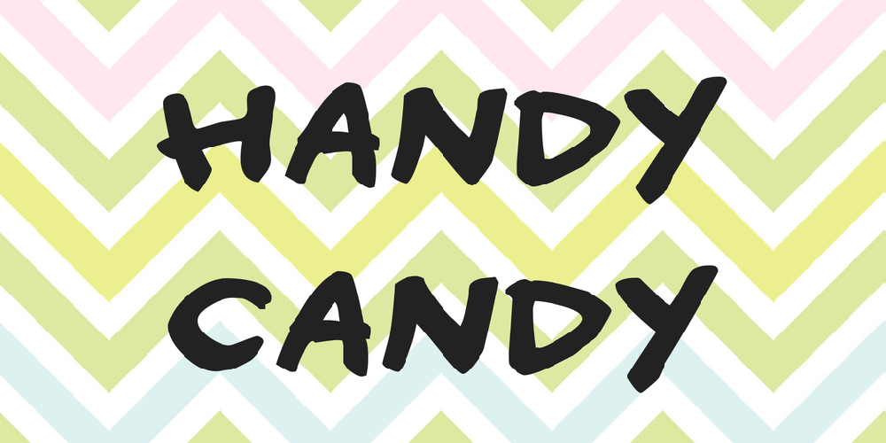 Download Handy candy font | fontsme com