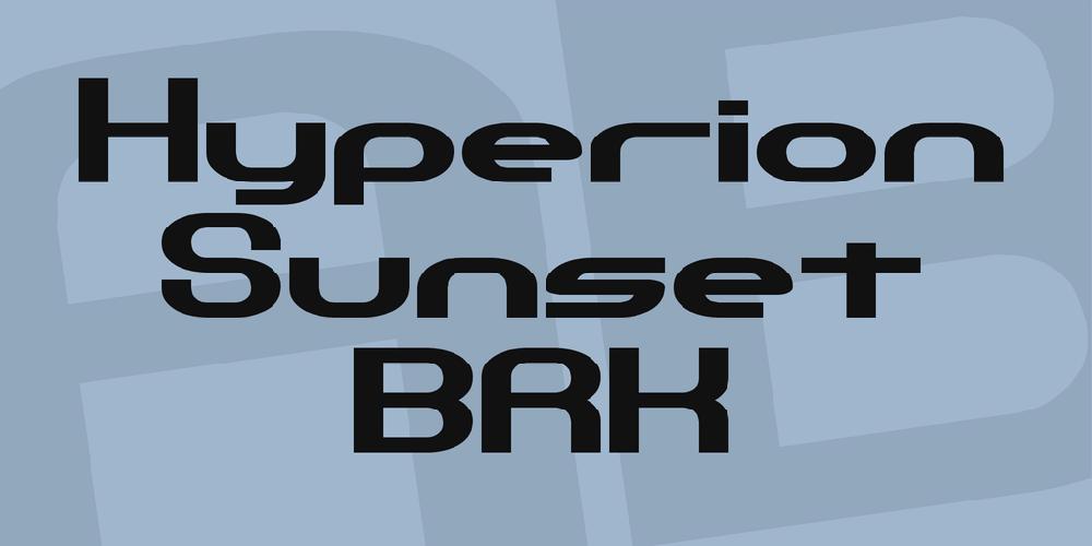 Hyperion Sunset BRK