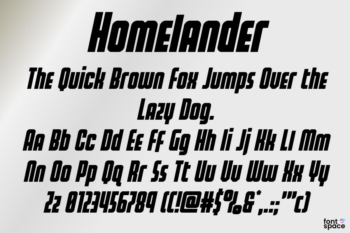 Homelander Wide Italic