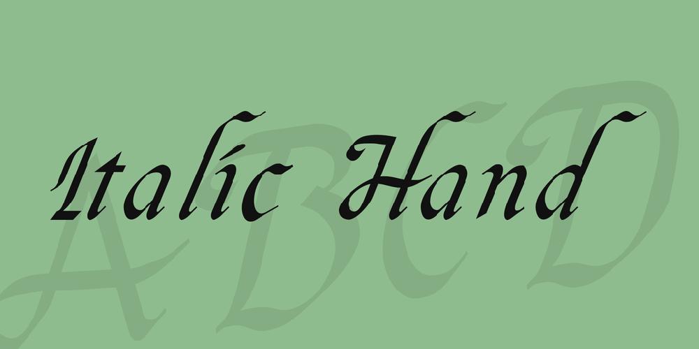 Italic Hand