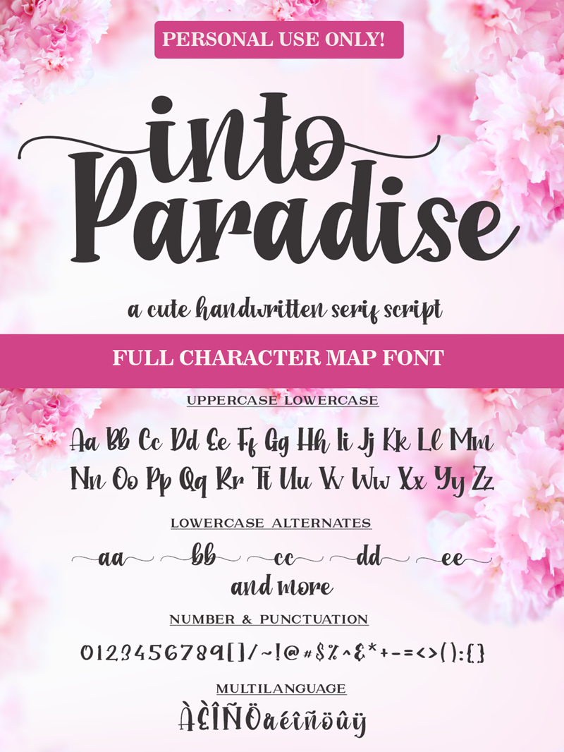Into Paradise - Personal Use