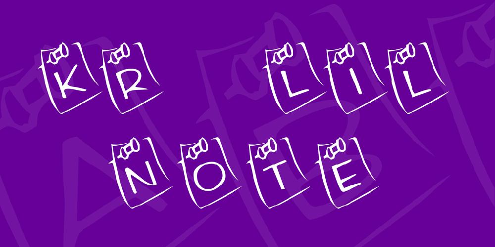 KR Lil Note