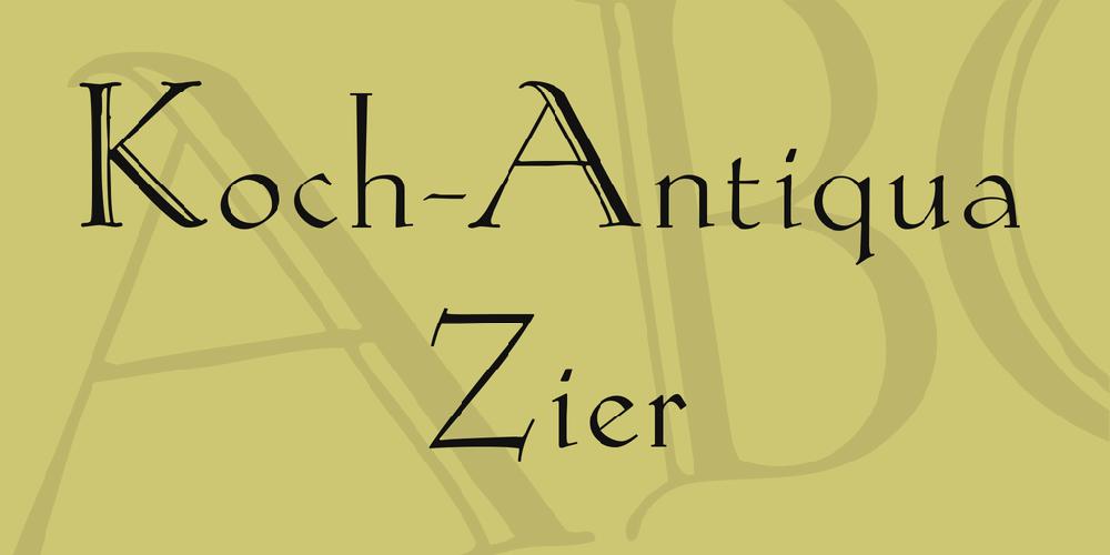 Koch-Antiqua Zier