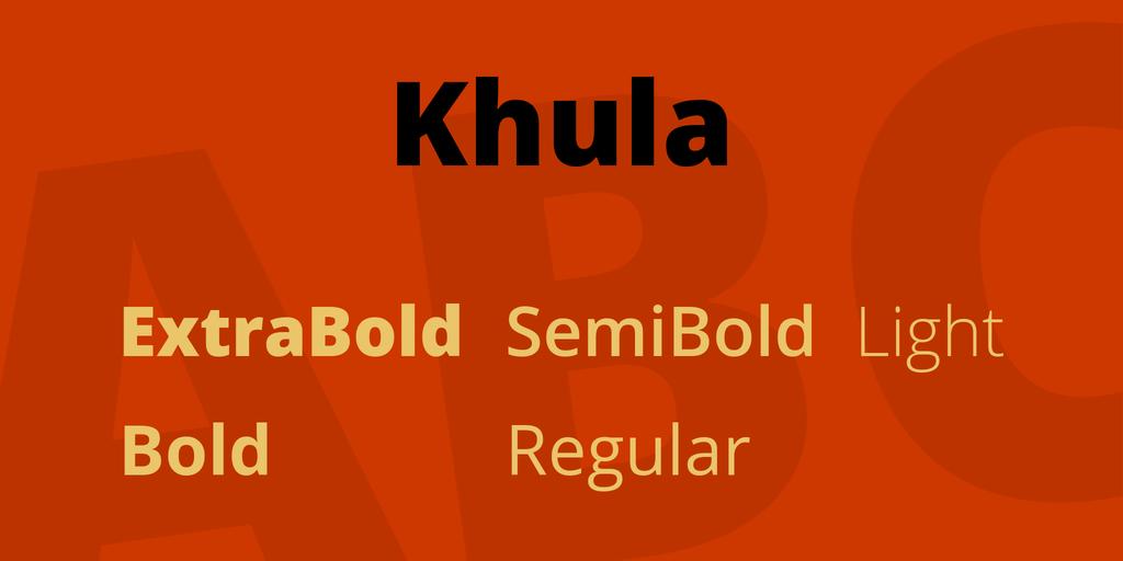 Download Khula font | fontsme com