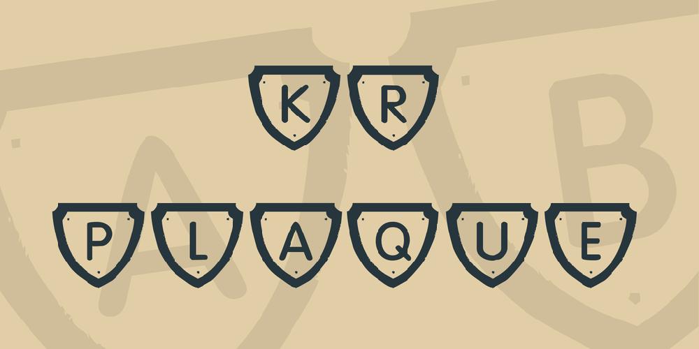 KR Plaque