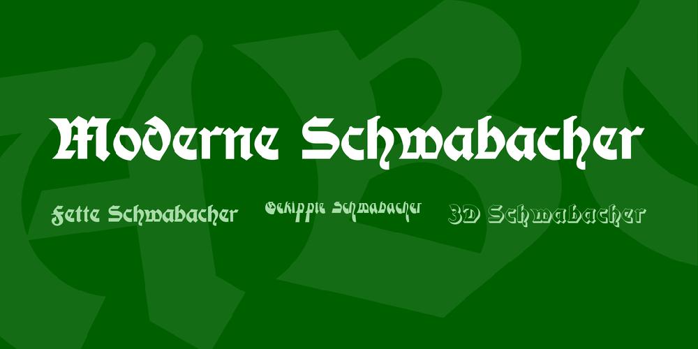 Moderne Schwabacher