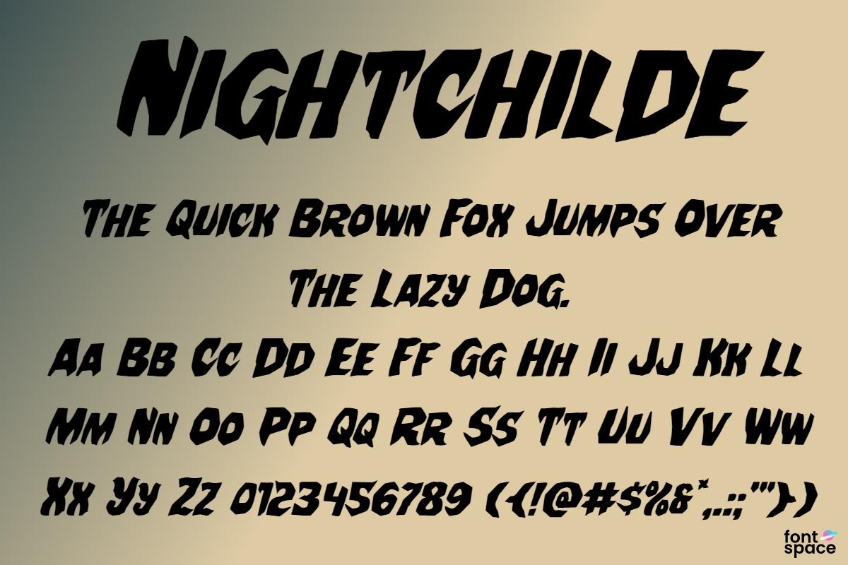 Nightchilde Condensed Italic