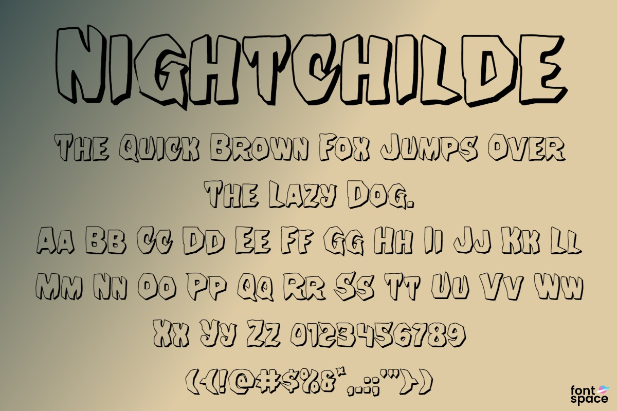 Nightchilde Condensed Italic