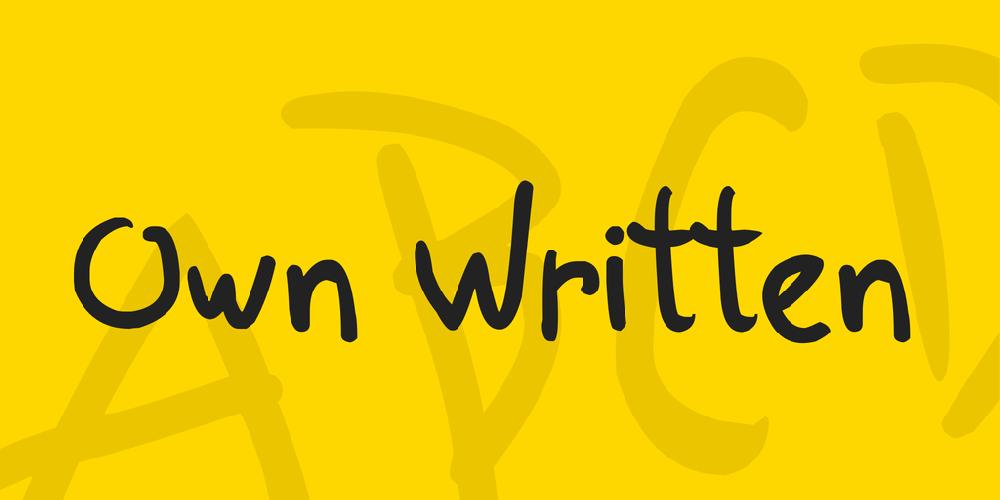 Own Written