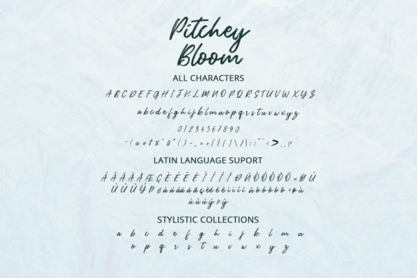 Pitchey Bloom Personal Use