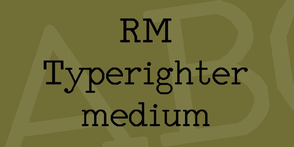 RM Typerighter medium