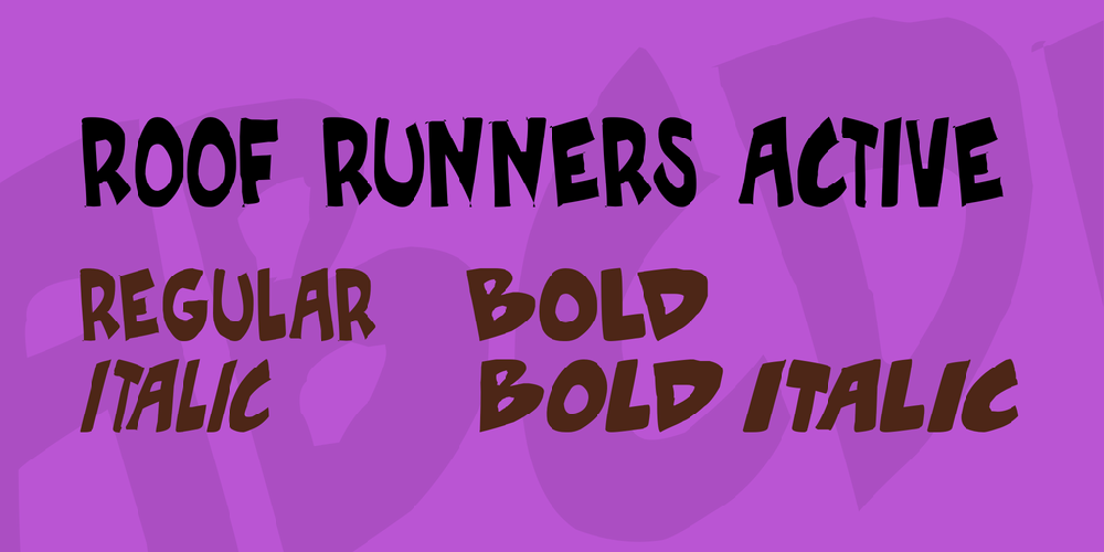 Roof runners active