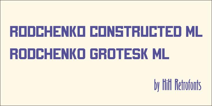 Rodchenko  Constructed ML