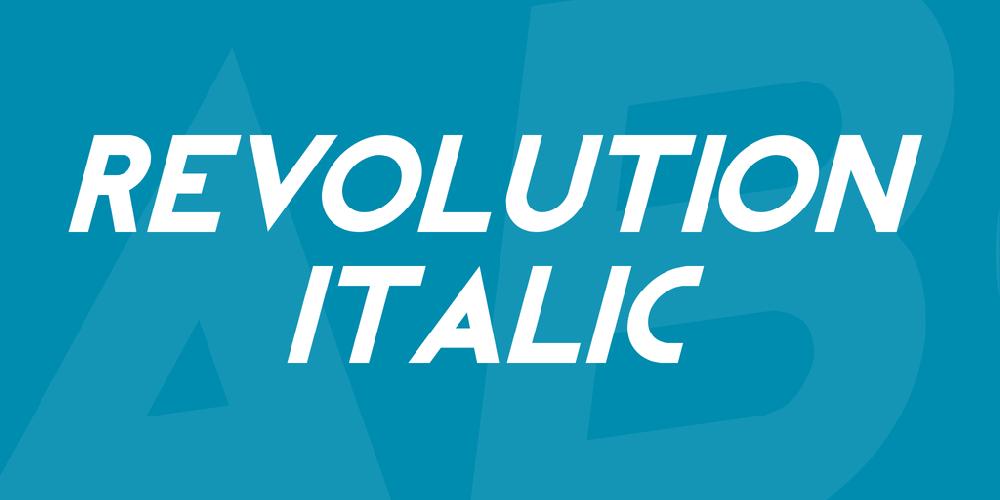 REVOLUTION Italic