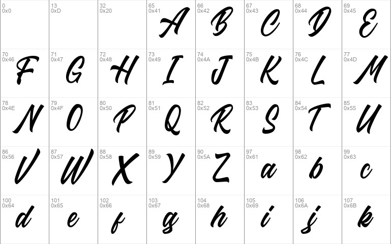 Riverside FREE calligraphy