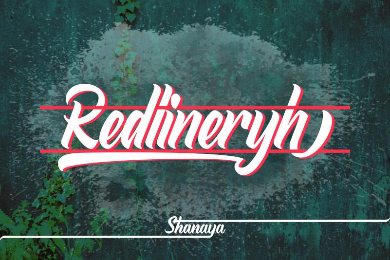 Redlineryh calligraphy