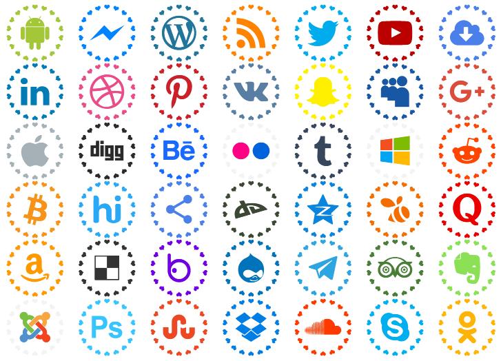 social networks colors