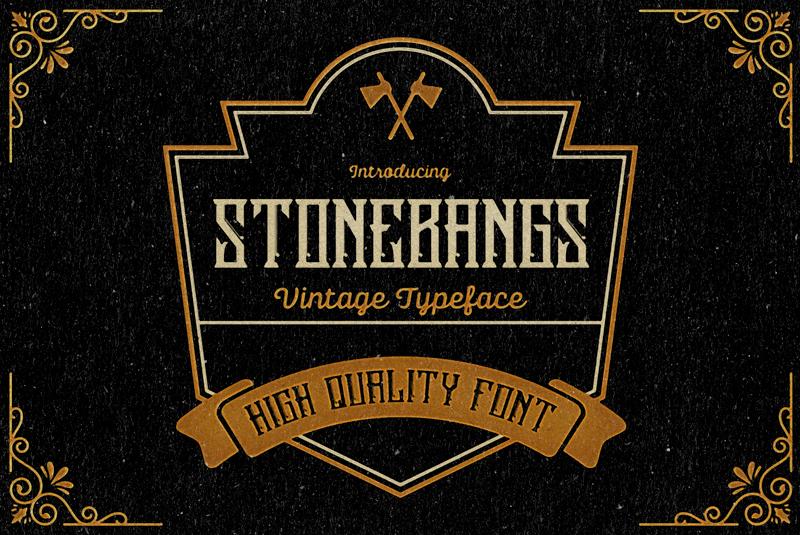 Stonebangs Typeface