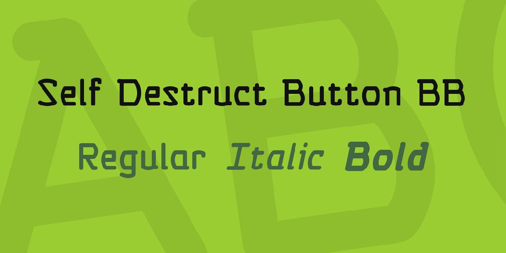 Self Destruct Button BB