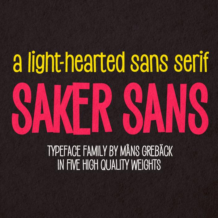 Saker Sans Medium PERSONAL USE
