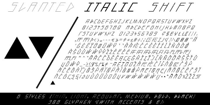 slanted ITALIC shift