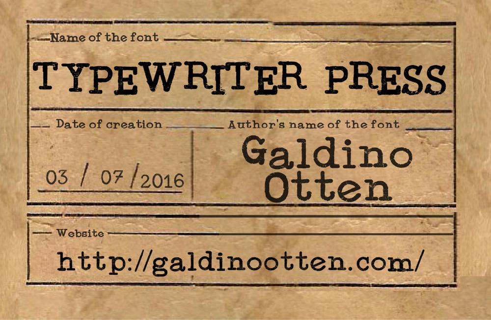 Typewriter Press