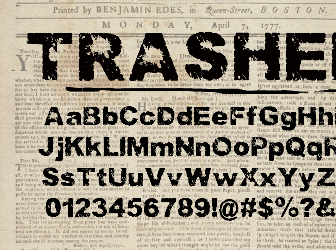Download 5 faded fonts