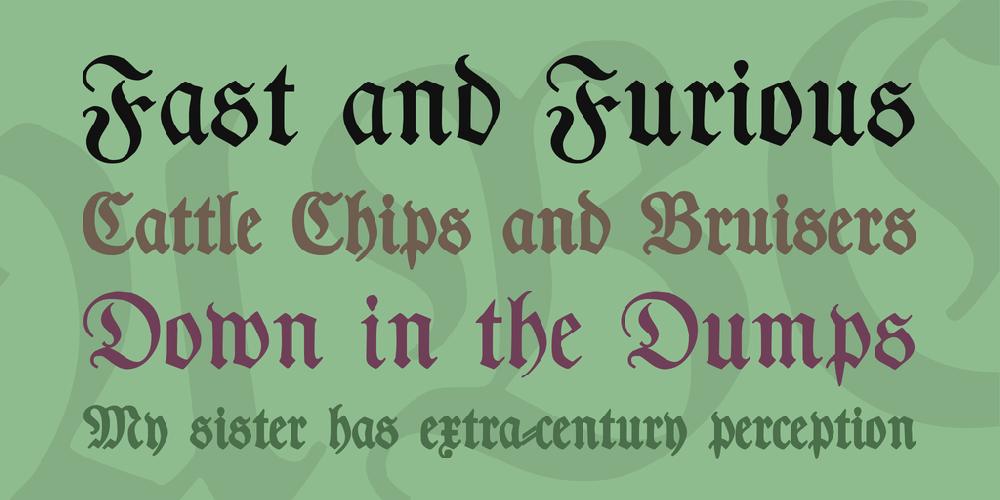 Typographer Fraktur