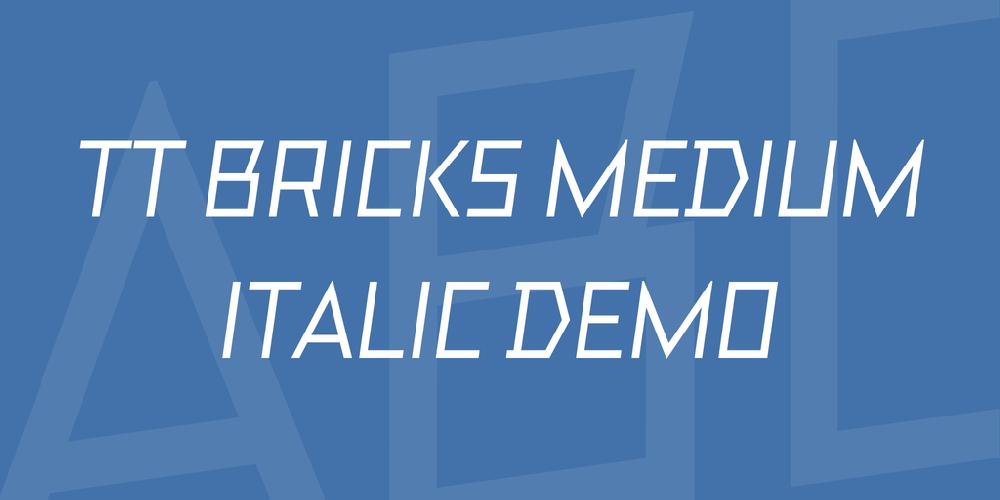 TT Bricks Medium Italic DEMO