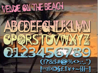 Download 3 the beach fonts