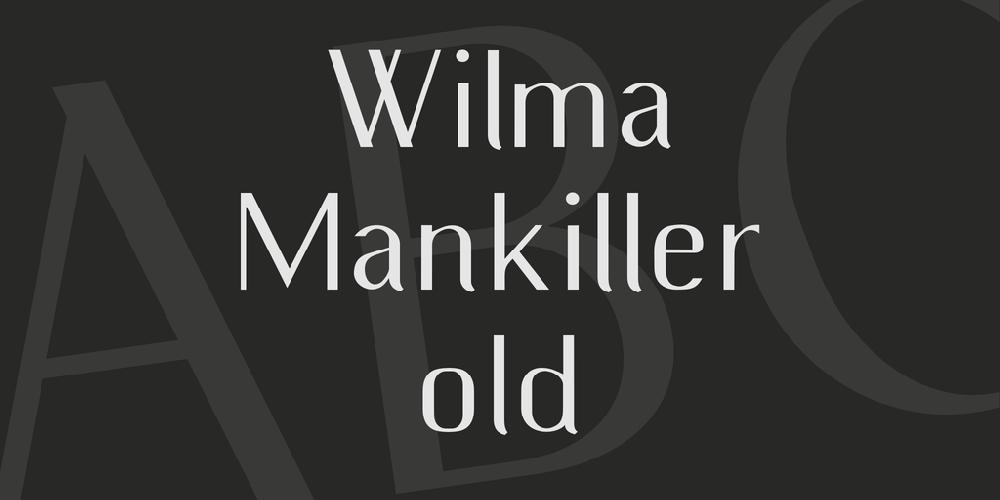 Wilma Mankiller old